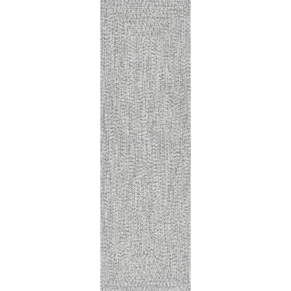nuLOOM Braided Lefebvre Salt and Pepper 2 ft. 6-inch x 8 ft. Indoor Runner