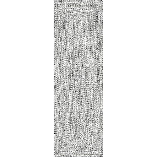 Braided Lefebvre Salt and Pepper 2 ft. 6-inch x 8 ft. Indoor Runner