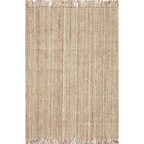 Hand Woven Chunky Loop Jute Natural 4 ft. x 6 ft. Indoor Area Rug