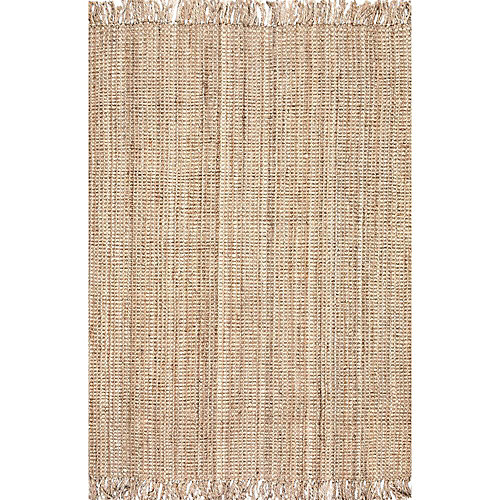 Hand Woven Chunky Loop Jute Natural 5 ft. x 7 ft. 6-inch Indoor Area Rug