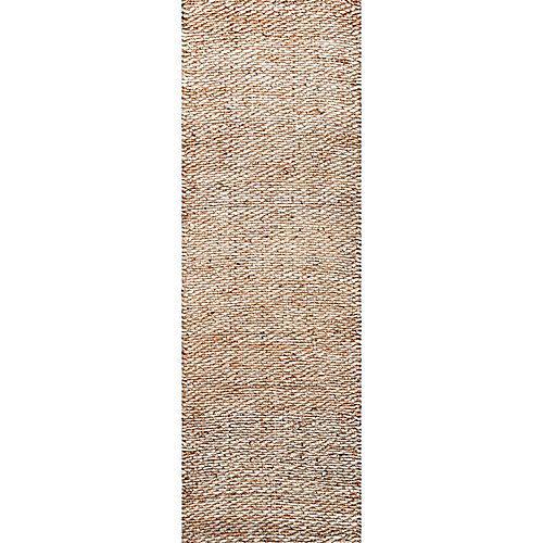 Hand Woven Hailey Jute Natural 2 ft. 6-inch x 8 ft. Indoor Runner
