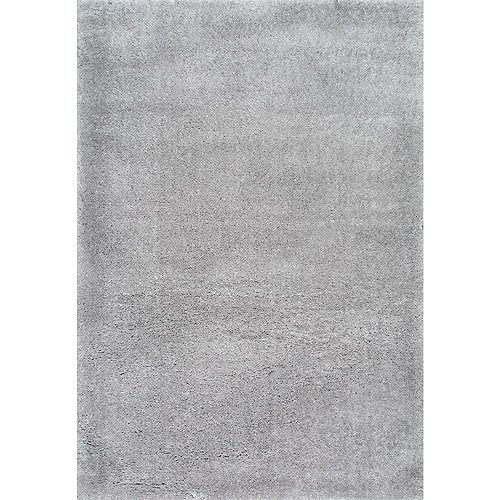 Gynel Cloudy Shag Silver 5 ft. 3-inch x 7 ft. 6-inch Indoor Area Rug