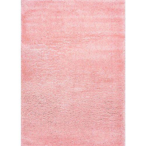 Tapis d'intérieur, 4 pi x 6 pi, Gynel Nuageux Shag, rose
