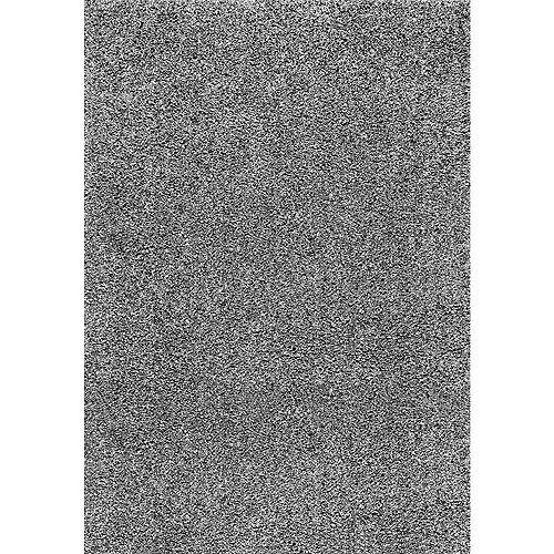 Tapis d'intérieur, 4 pi x 6 pi, Marleen Peluche Shag, gris