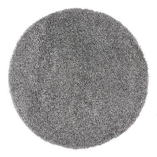Marleen Plush Shag Rug Grey 5 ft. 3-inch Indoor Round Rug