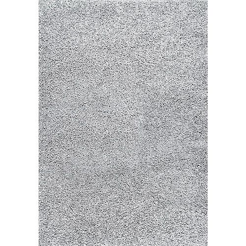 Marleen Plush Shag Rug Silver 5 ft. 3-inch x 7 ft. 6-inch Indoor Area Rug