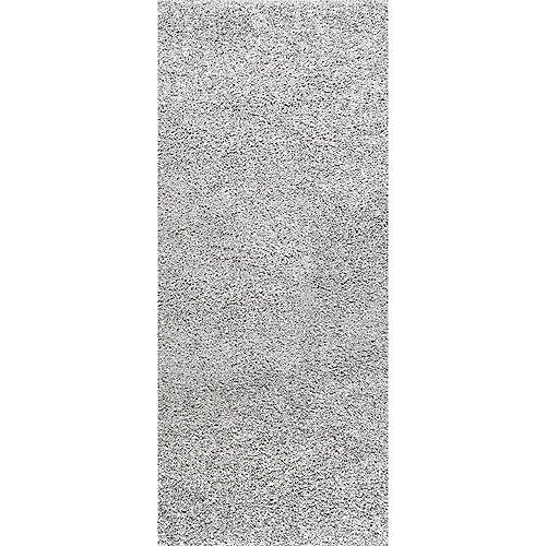 Marleen Plush Shag Rug Silver 2 ft. 8-inch x 8 ft. Indoor Runner