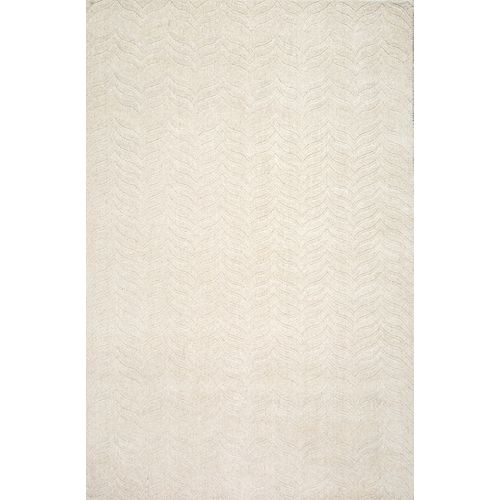 Hand Woven Lundberg Ivory 7 ft. 6-inch x 9 ft. 6-inch Indoor Area Rug