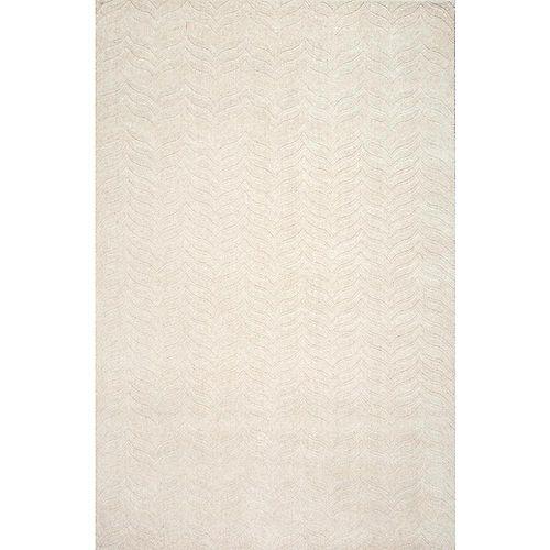 Tapis d'intérieur tissé à la main, 6 pi x 9 pi, Lundberg, ivoire