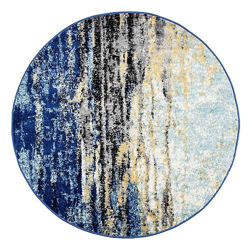 Tapis d'intérieur, 5 pi, Katharina, bleu