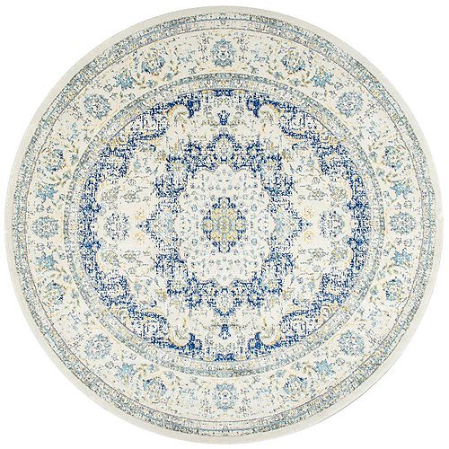 Verona Rug Blue 5 ft. Indoor Round Rug