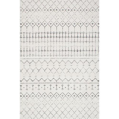 Moroccan Blythe Grey 4 ft. x 6 ft. Indoor Area Rug