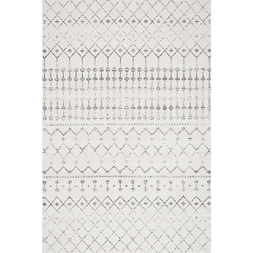 Moroccan Blythe Grey 6 ft. 7-inch x 9 ft. Indoor Area Rug