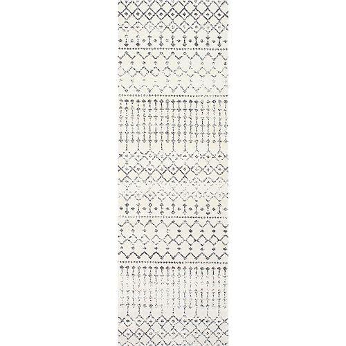 Moroccan Blythe Grey 2 ft. 8-inch x 12 ft. Indoor Runner