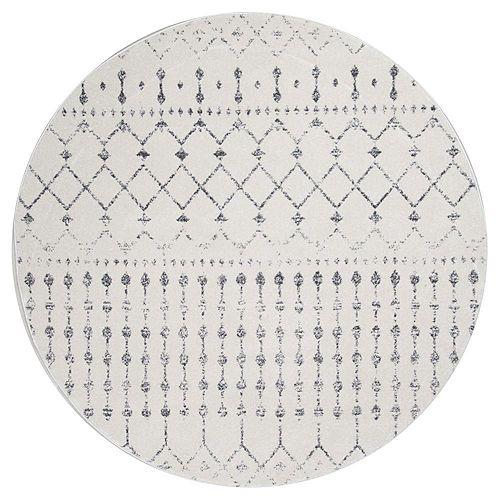 Moroccan Blythe Grey 5 ft. Indoor Round Rug