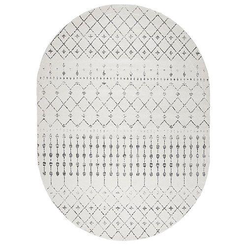 Tapis d'intérieur, 6 pi 7 po x 9 pi, Morocain Blythe, gris