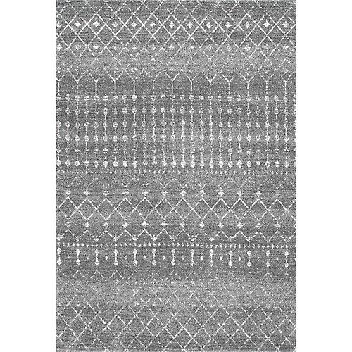 Moroccan Blythe Dark Grey 5 ft. x 7 ft. 5-inch Indoor Area Rug