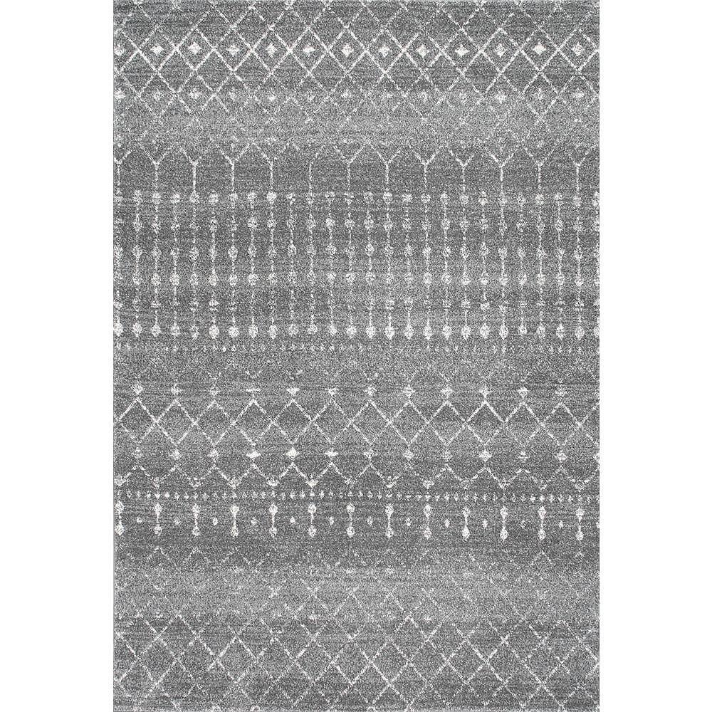nuLOOM Moroccan Blythe Dark Grey 5 ft. x 7 ft. 5-inch Indoor Area Rug