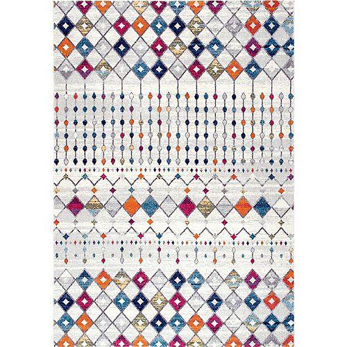 Tapis d'intérieur, 4 pi x 6 pi, Morocain Blythe, multicolore