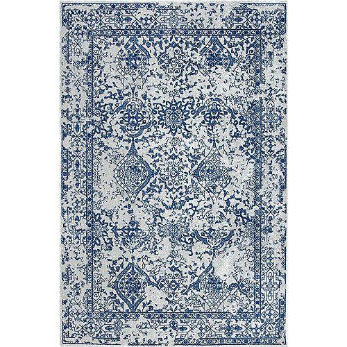 Tapis d'intérieur, 8 pi x 10 pi, Odell, bleu clair