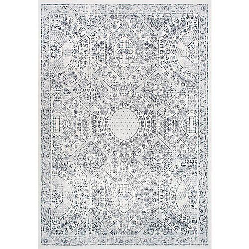 Vintage Minta Grey 5 ft. x 7 ft. 5-inch Indoor Area Rug