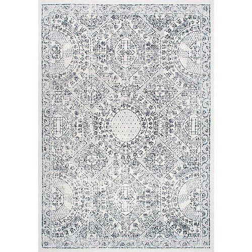 Tapis d'intérieur d'époque Minta, 9 pi x 12 pi, gris