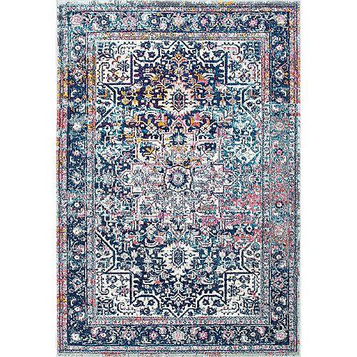 Persian Vintage Raylene Blue 4 ft. x 6 ft. Indoor Area Rug