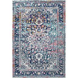 Persian Vintage Raylene Blue 9 ft. x 12 ft. Indoor Area Rug