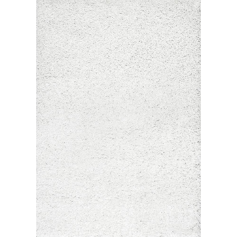 tapis d interieur a poil long fabrique a la machine 7 pi 10 po x 10 pi blanc