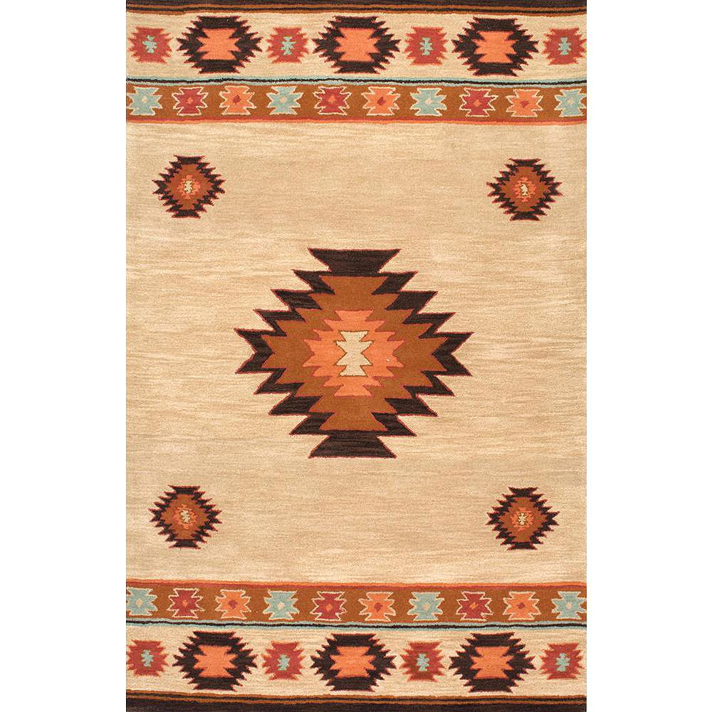 Nuloom Hand Tufted Shyla Beige 5 Ft X 8 Ft Indoor Area Rug The Home Depot Canada