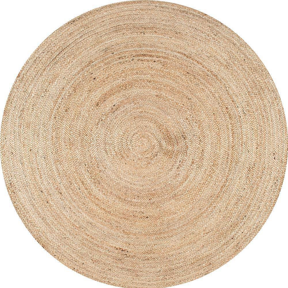 nuLOOM Hand Woven Rigo Jute Rug Natural 6 ft. Indoor Round Rug