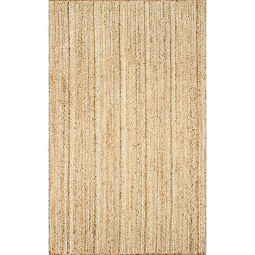 Hand Woven Rigo Jute Rug Natural 9 ft. x 12 ft. Indoor Area Rug
