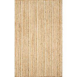 Hand Woven Rigo Jute Natural 9 ft. x 12 ft. Indoor Area Rug