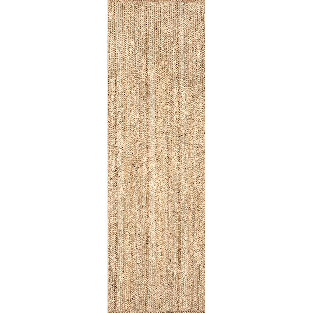 nuLOOM Hand Woven Rigo Jute Rug Natural 2 ft. 6-inch x 8 ft. Indoor Runner