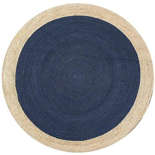 Hand Woven Eleonora Blue 6 ft. Indoor Round Rug