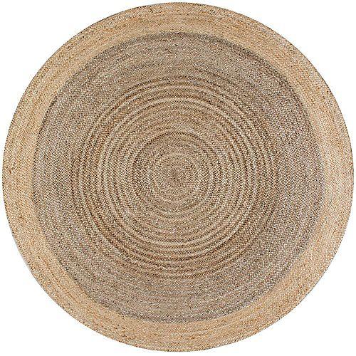 Hand Woven Eleonora Grey 8 ft. Indoor Round Rug