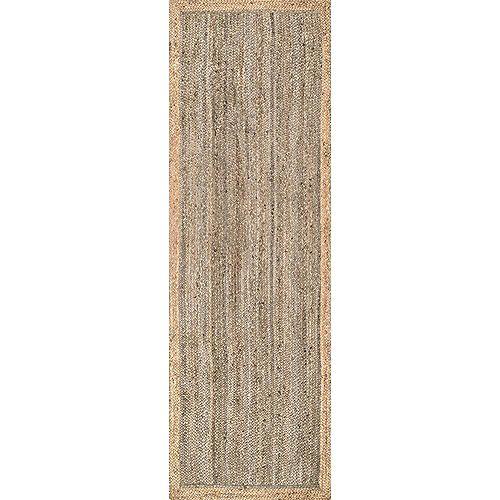 Hand Woven Eleonora Grey 2 ft. 6-inch x 8 ft. Indoor Runner