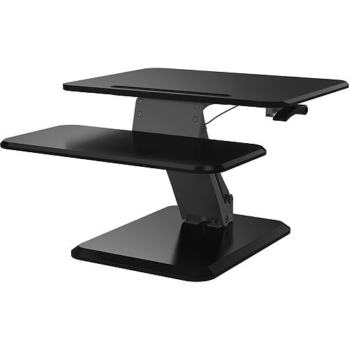 Posidesk 25 inch Sit-Stand Pedestal Desk with Smart Rail for Mobile Devices