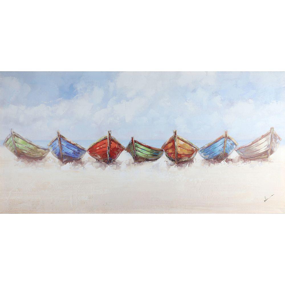 Art Maison Canada 24x48 Ready to Boat, Canvas Print Wall Art, Ready to hang