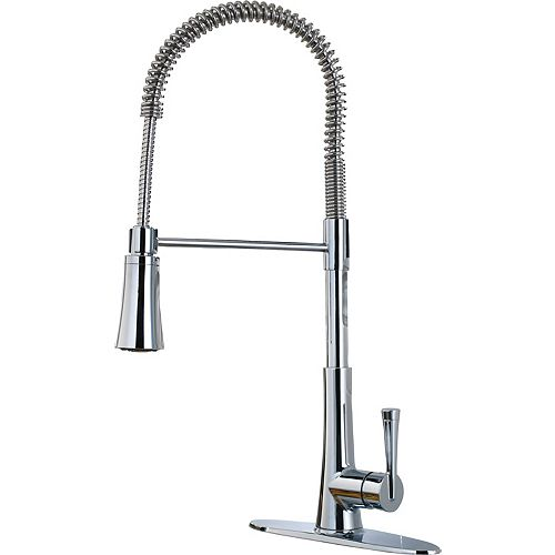 Zuri Culinary Pulldown Faucet in Polished Chrome