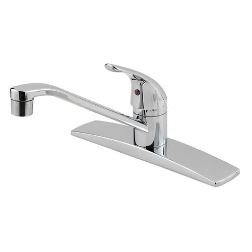 Square Single Control Kitchen Faucet in Polished Chrome