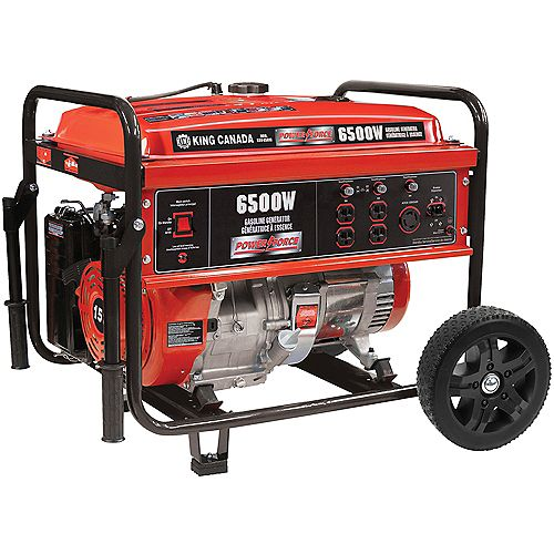 Gasoline Generator With Wheel Kit 6500 Watt