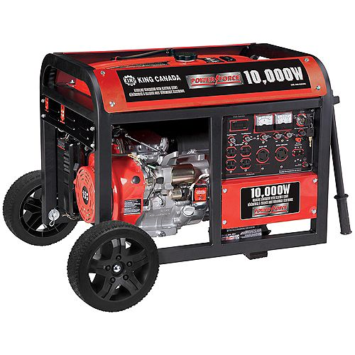 Gasoline Generator With Electric Start And Wheel Kit 10,000 Watt