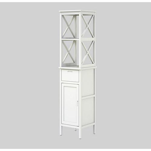 Bathroom High Cabinet Shelf 40 x 40 x 183 cm (16 inch x 16 inch x 72 inch)