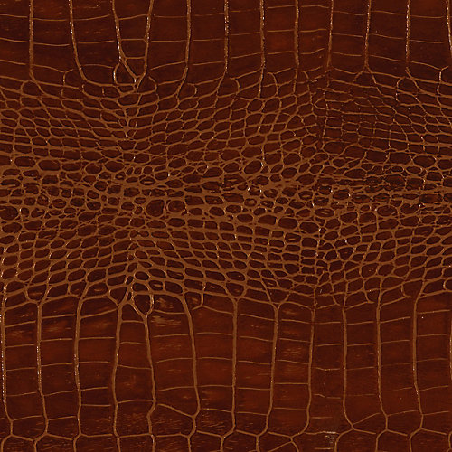 48 inch x 96 inch Recycled Leather Veneer Sheet in Mahogany  Crocodile