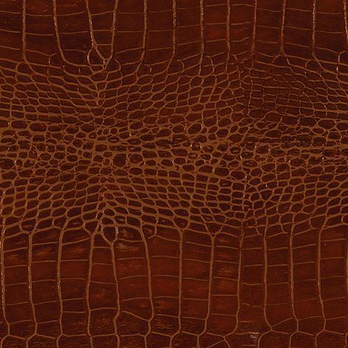 48 inch x 96 inch Recycled Leather Veneer Sheet in Mahogany  Crocodile