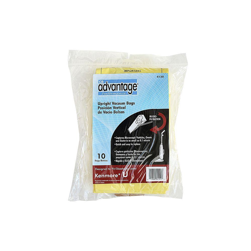 CB Performance Advantage Sacs de rechange pour aspirateur, compatibles avec le U de Kenmore, microdoublure, ens. de 10