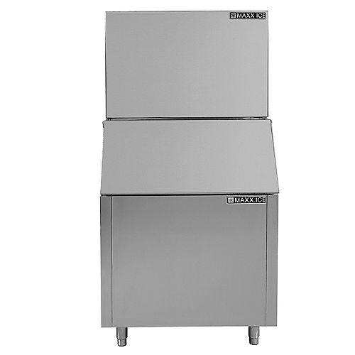 Maxx Ice 30 inch 450lb Freestanding Modular Ice Maker with Storage Bin