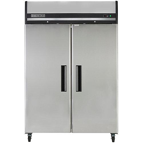 Armoire réfrigérée commerciale à 2 portes, 54 po, 49 pi3
