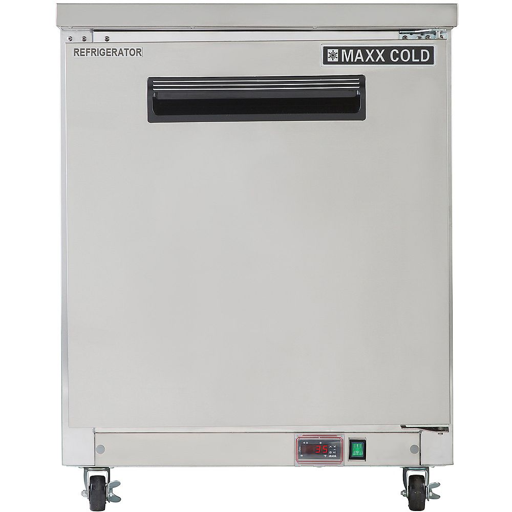 Maxx Cold X-Series 27 inch 6.5 cuft Commercial Under Counter Refrigerator
